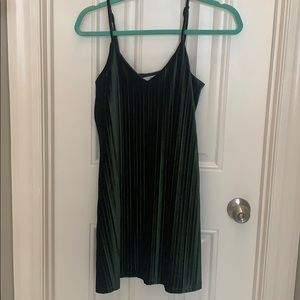 Velvet Green Slip Dress